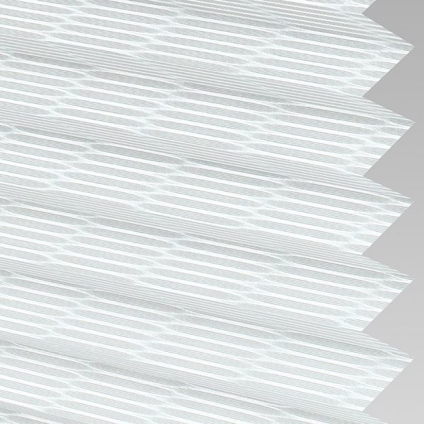 Reed White Pleated Blind