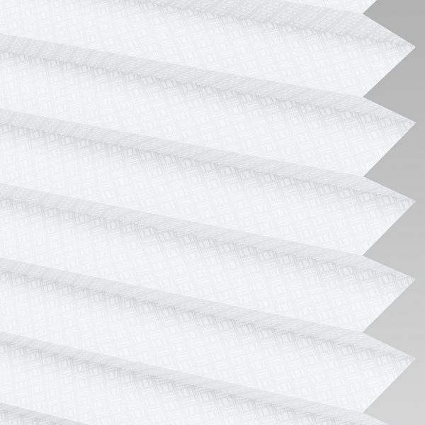 Grid White Pleated Blinds