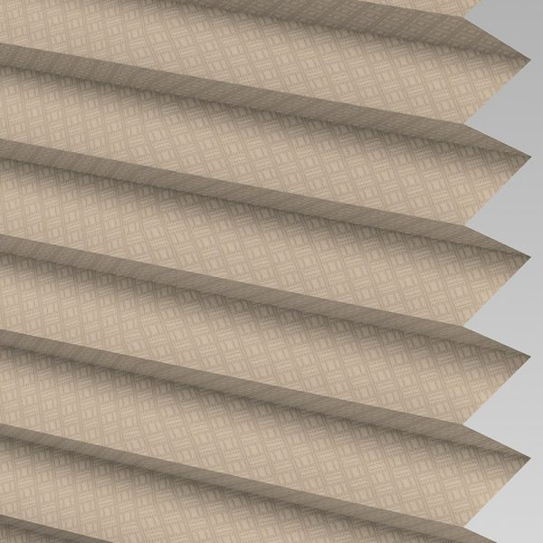 Grid Taupe Pleated Blind