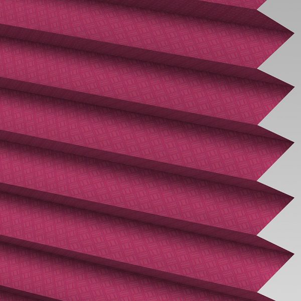 Grid Mulberry Pleated Blind