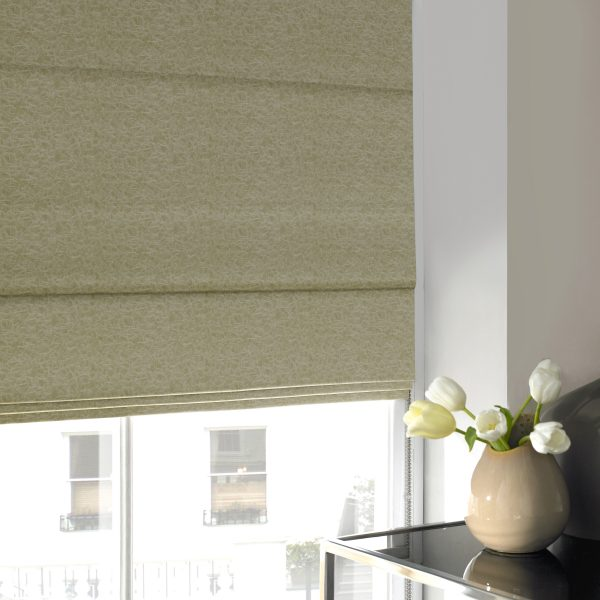 Bakewell Apple Roman Blind with Standard Lining
