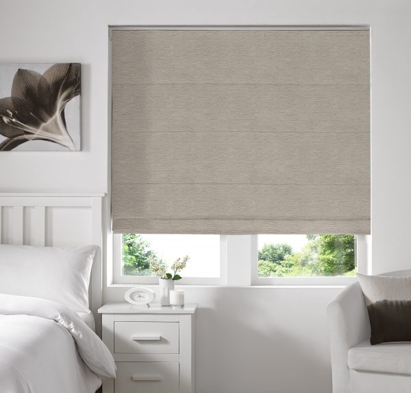 Keswick Champagne Roman Blind With Standard Lining