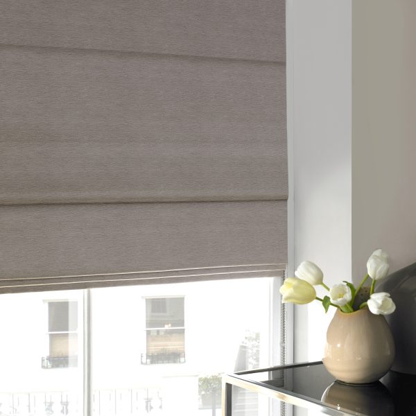 Keswick Fog Roman Blind with Blackout Lining