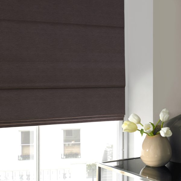 Keswick Grey Roman Blind with Standard Lining