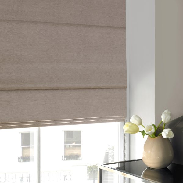 Keswick Shell Roman Blind with Standard Lining