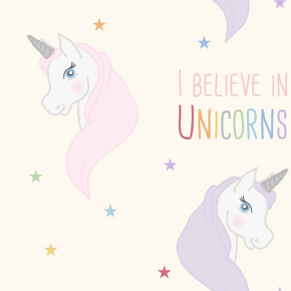 Believe in Unicorns Purple Roller Blind