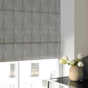 Alnwick Fog Roman Blind with Standard Lining
