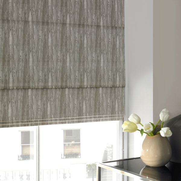 Alnwick Sage Roman Blind with Standard Lining