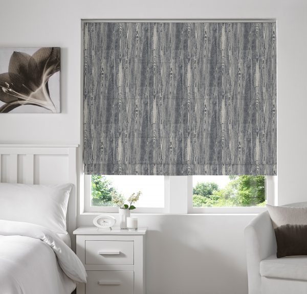 Alnwick Sky Roman Blind with Standard Lining