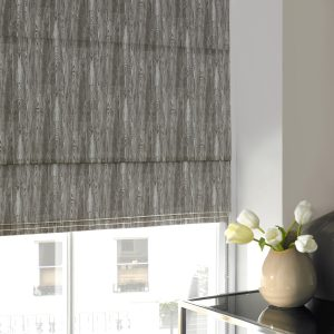 Alnwick Smoke Roman Blind with Standard Lining