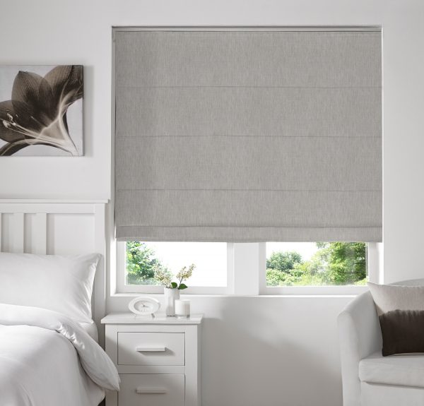 Skipton Silver Roman Blind -withStandard Lining
