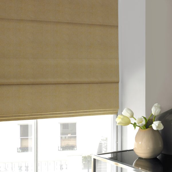 Hexham Buttercup Roman Blind with Blackout Lining