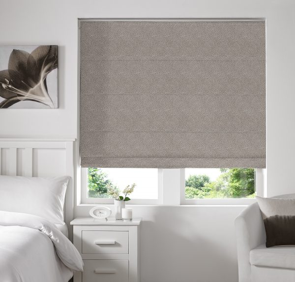 Hexham Earth Roman Blind with Blackout Lining