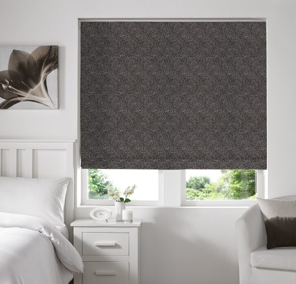 Hexham Grey Roman Blind with Standard Lining