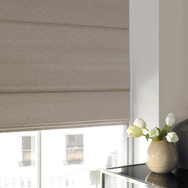 Hexham Nougat Roman Blind with Standard Lining