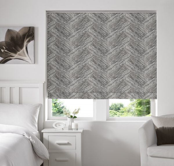 Holt Blush Roman Blind with Standard Lining