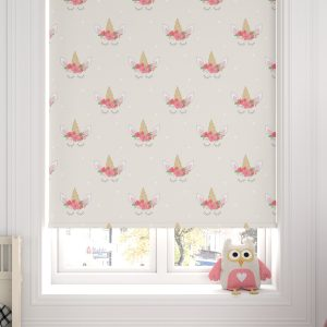 Unicorn Heads Cream Roller Blind