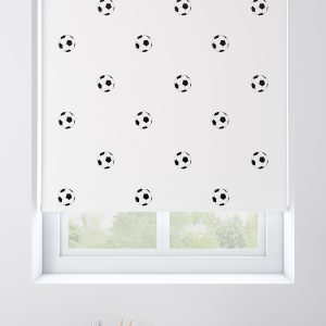 Footballs White Roller Blind