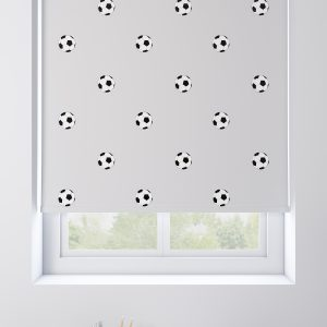 Footballs Grey Roller Blind