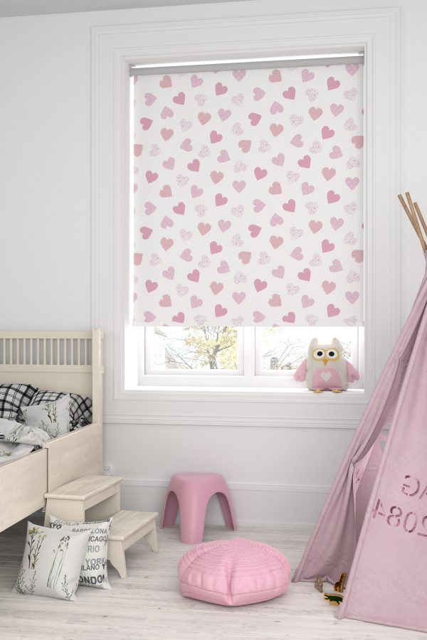 Love Hearts Roller Blind