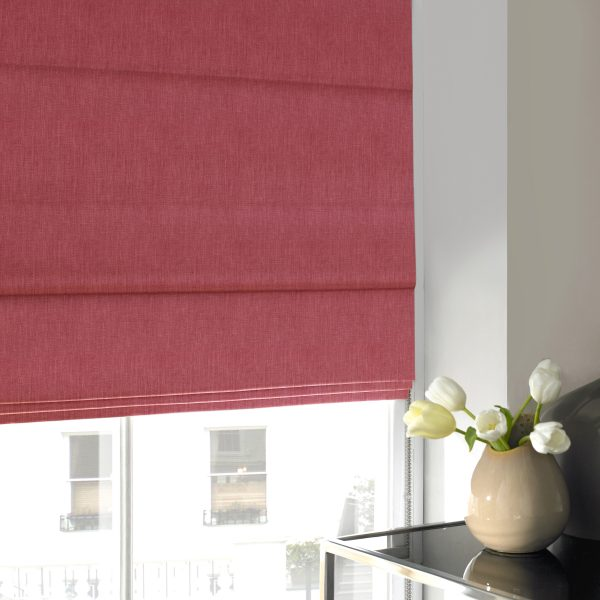 Stamford Blush Roman Blind with Blackout Lining
