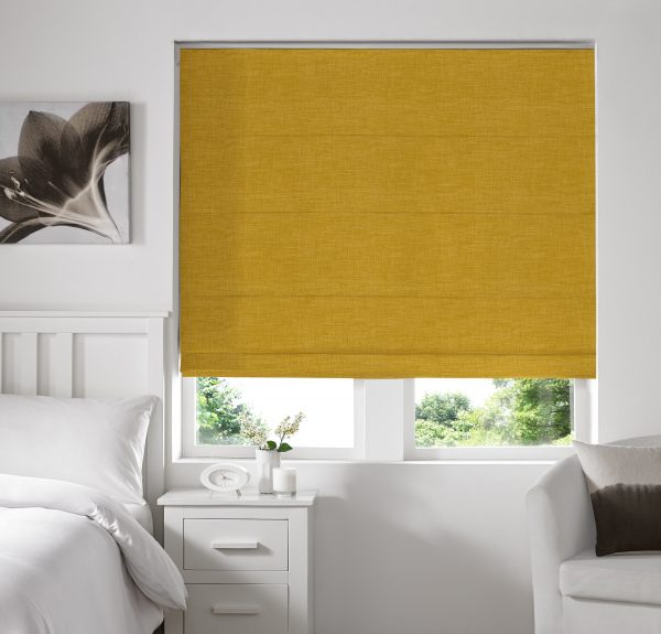 Stamford Buttercup Roman Blind with Standard Lining
