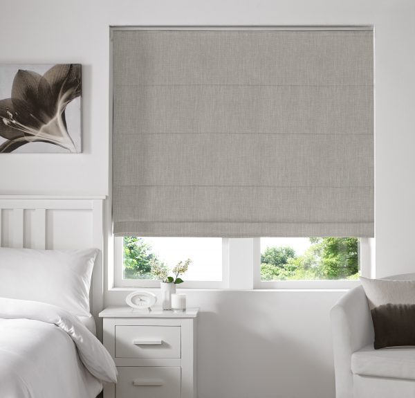 Stamford Ecru Roman Blind with Standard Lining