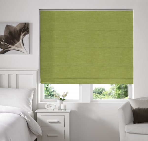 Stamford Grass Roman Blind with Standard Lining