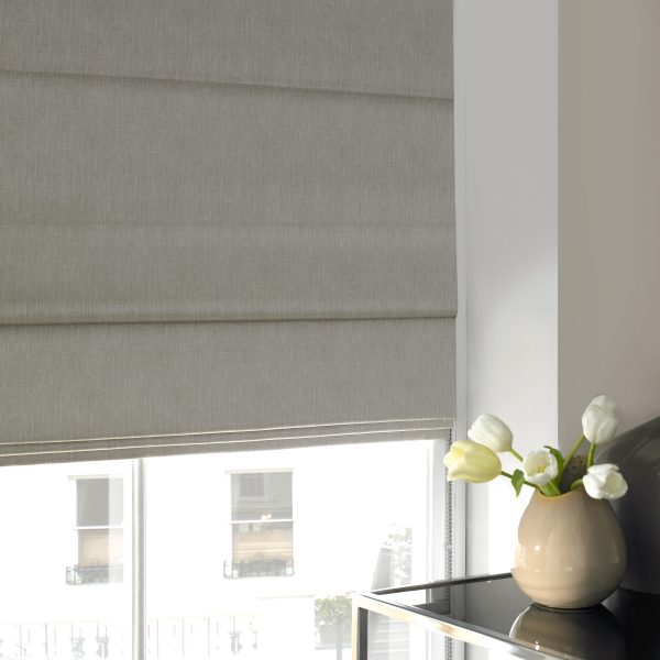 Stamford Stone Roman Blind with Standard Lining