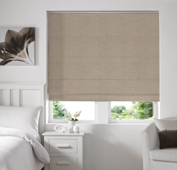 Stamford Wheat Roman Blind with Blackout Lining