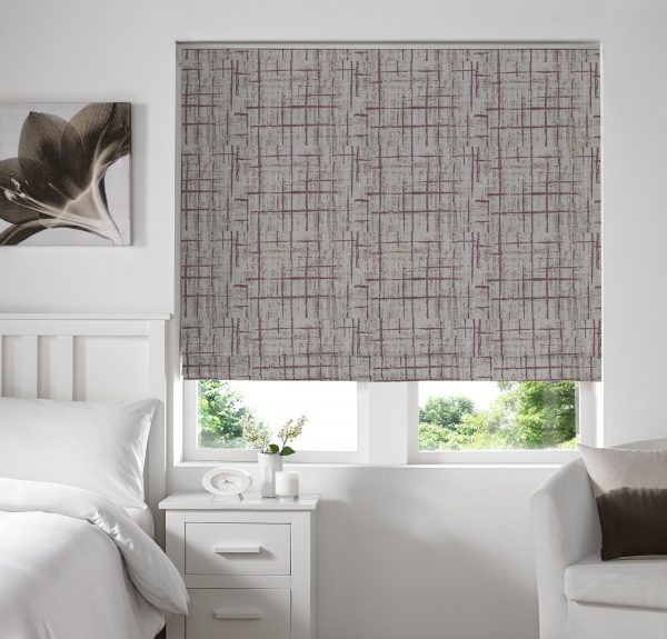 Sherbourne Plum Roman Blind with Standard Lining