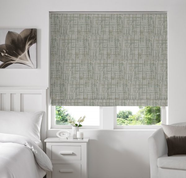 Sherbourne Sage Roman Blind with Standard Lining