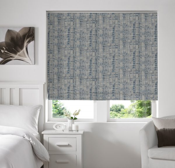 Sherbourne Sky Roman Blind with Standard Lining