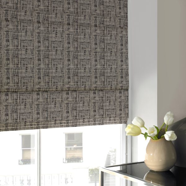 Sherbourne Smoke Roman Blind with Standard Lining