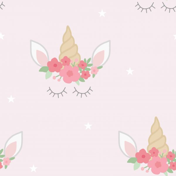 Unicorn Heads Pink Rolelr Blind